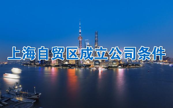 上海自贸区成立公司条件