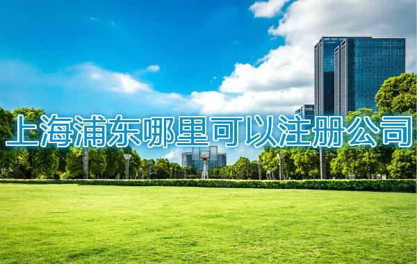 上海浦东哪里可以注册公司