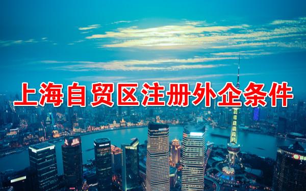 上海自贸区注册外企条件